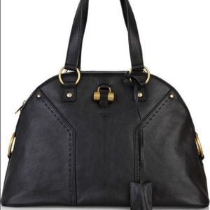 YSL Muse Xl Black with Gold Hardware
